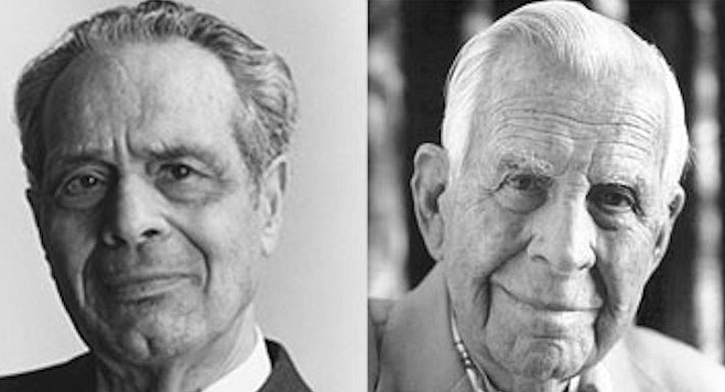 Gadfly Abraham Briloff (left) helped expose infamous San Diego accounting scandals such as C. Arnholt Smith's (right) U.S. National Bank debacle.