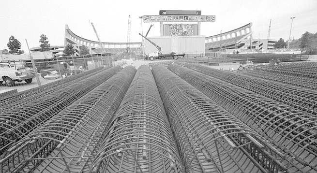 Stadium expansion construction