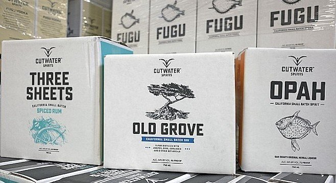 Formerly sold under the Ballast Point brand, these liquors now carry the Cutwater name.