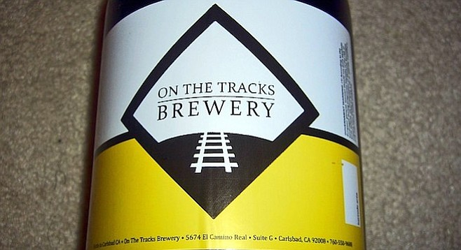 In early February, someone posted this On the Tracks Brewery growler to eBay.