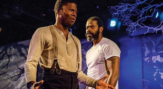 Blue Door marbles humor through African-American stories of unthinkable anguish.