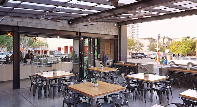 Lofty Coffee's new open-air café at the south end of Little Italy