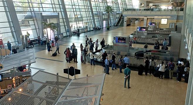 Art-starved?: baggage claim at Lindbergh Field, aka San Diego International Airport