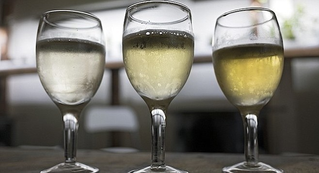 Golden Coast's mead resembles white wine.