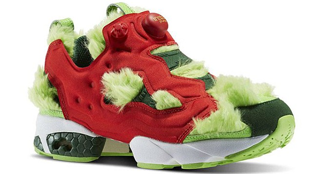 Fuzzy green Reeboks: Acceptable only when worn ironically