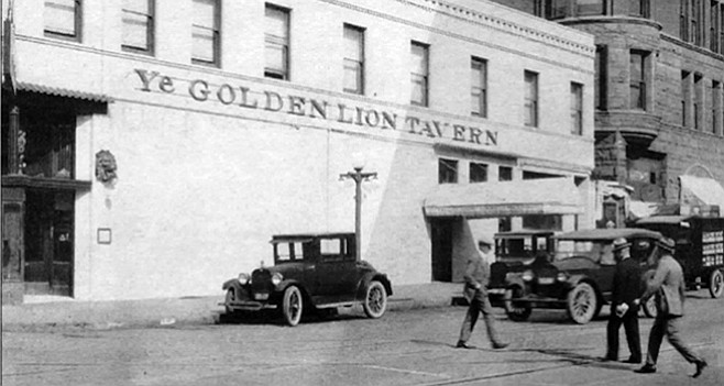 Golden Lion, 4th and F Street, 1924. Bootlegged liquor was delivered to the Golden Lion in crates of lettuce.