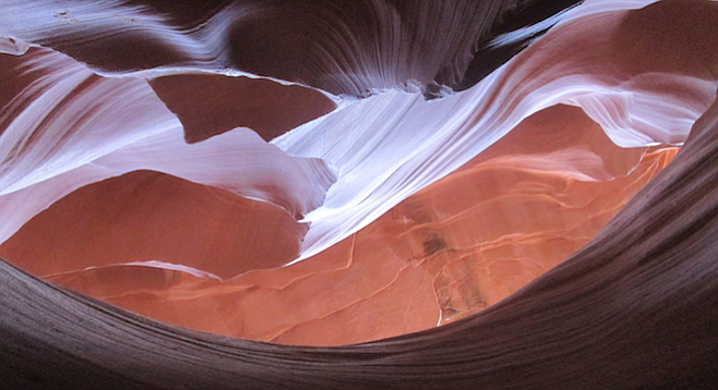 The play on light in Arizona's red-sandstone Antelope Canyon makes it an otherworldly must-see.