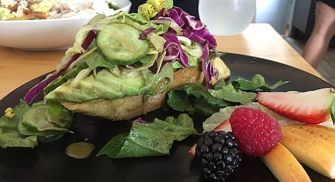 The Local Avocado Toast presents itself as an appetizer, but it's more like an entrée
