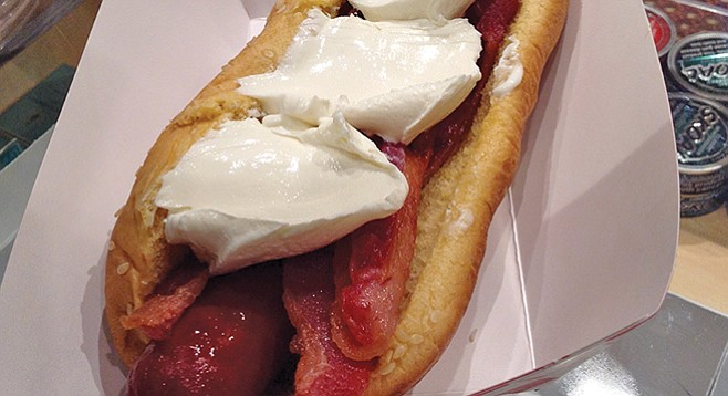 Hot Dog Bar's cream cheese and bacon Philly Dog