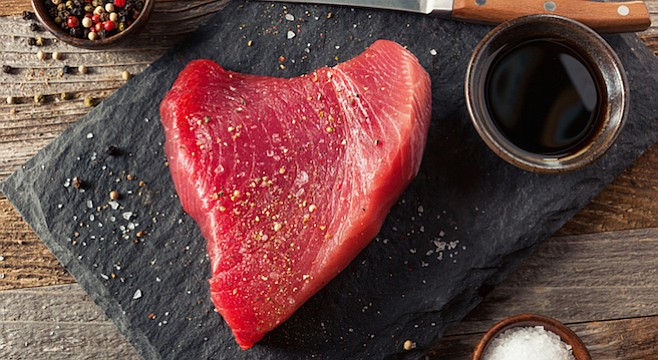 Sashimi-grade tuna is yours for the catching; no passport required