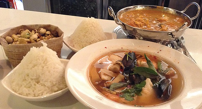 What $23.70 buys at Aaharn Thai. Not bad for downtown.