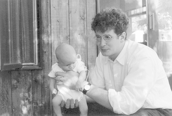 Finian at six weeks with the author
