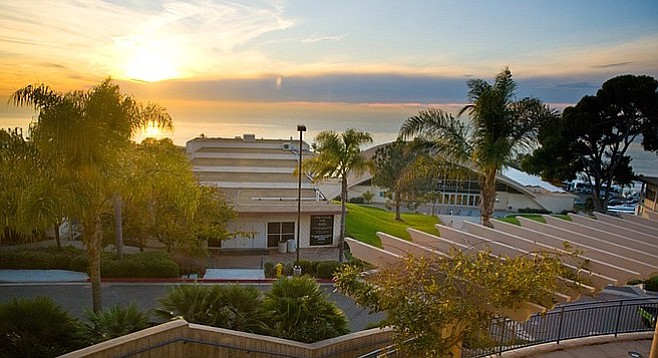 View from the music building of Point Loma Nazarene.