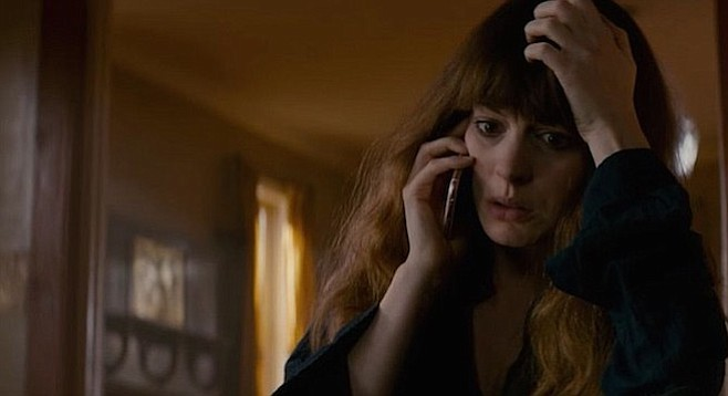 Anne Hathaway does good work in the oddball monster flick.