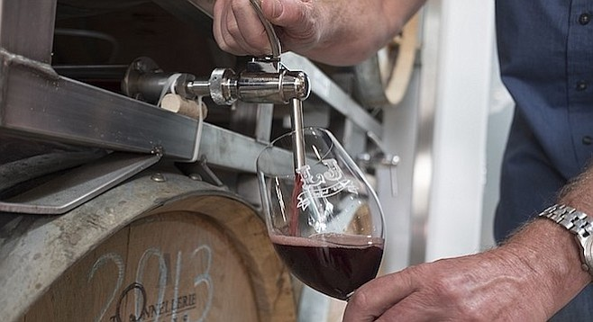 Wine can be poured directly from the barrel without oxygen seeping in, thanks to a patent-pending innovation.