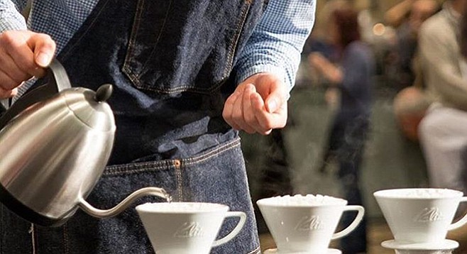 Jacob White competes in the national Brewers Cup competition.