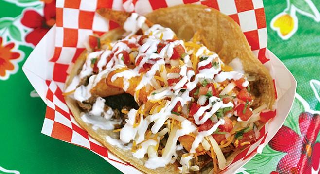 La Vecinidad California burrito-style taco