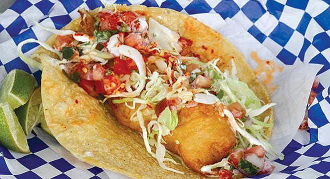 Mariscos German fish taco