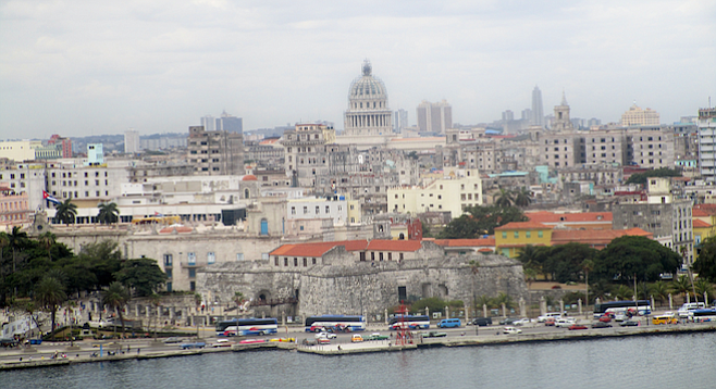 View of Havana's Old City from across the bay.
