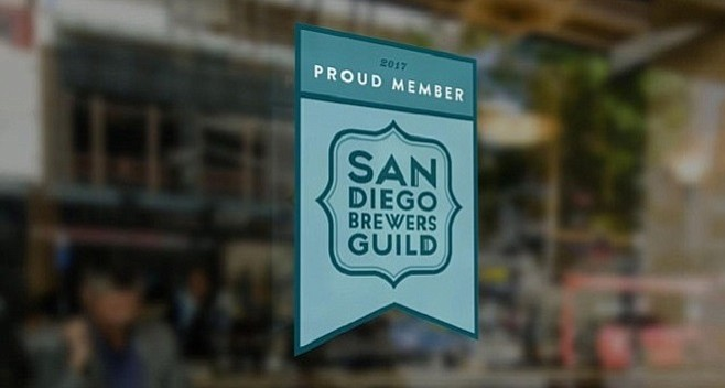 San Diego Brewers Guild will issue window decals to its brewery members and allies to indicate to beer drinkers which businesses serve independent, locally produced beers.