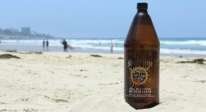 The first look at AleSmith's 40 oz. collaboration with Sublime