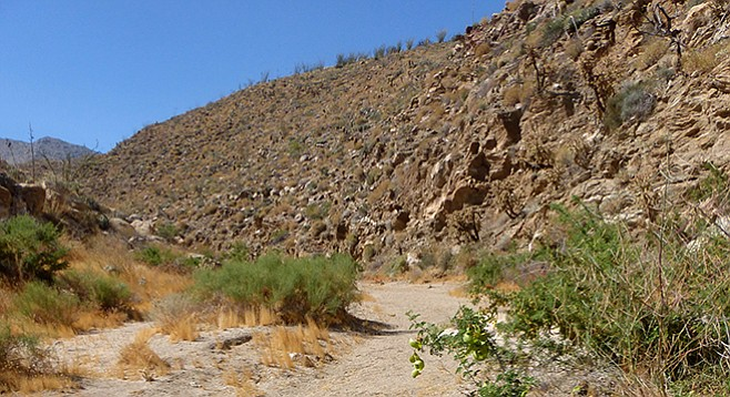 Start of the trail into Hornblende Canyon