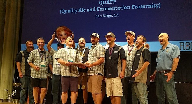San Diego's Quality Ale and Fermentation Fraternity (QUAFF) wins its second straight national hombrew club award.