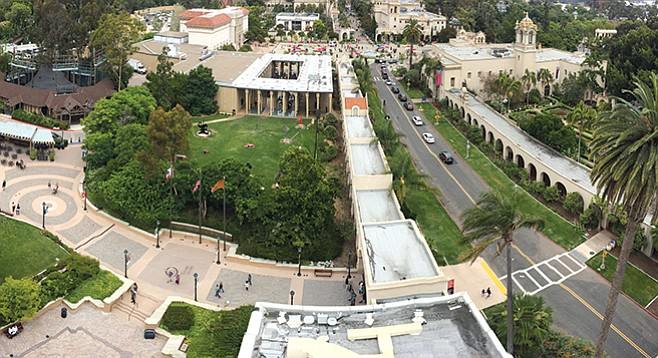 Not for the heights-phobic —  the California Tower in the Museum of Man offers panoramic (but dizzying) view of Balboa park and beyond.