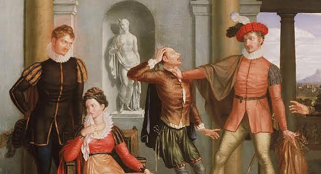 A scene from Taming of the Shrew, by 19th-century American painter, Washington Allston.