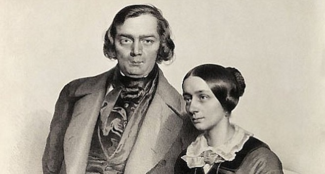 Clara and Robert Schumann.