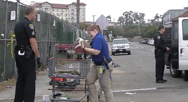 When homeless people get arrested, their pets get hauled off, too.