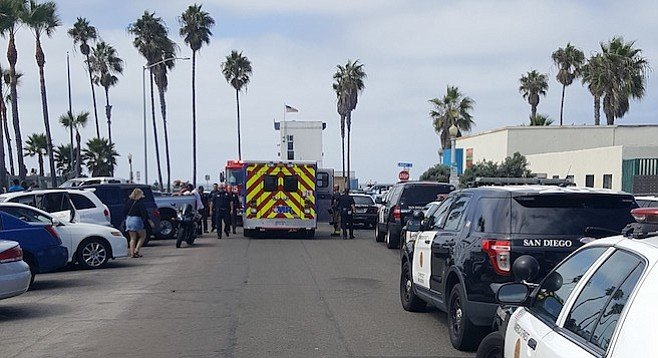 Students were dropped off on Santa Monica Avenue.