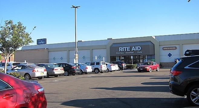 The Rite Aid parking lot (Robinson and Fifth) is the proposed location for a multistoried parking garage.