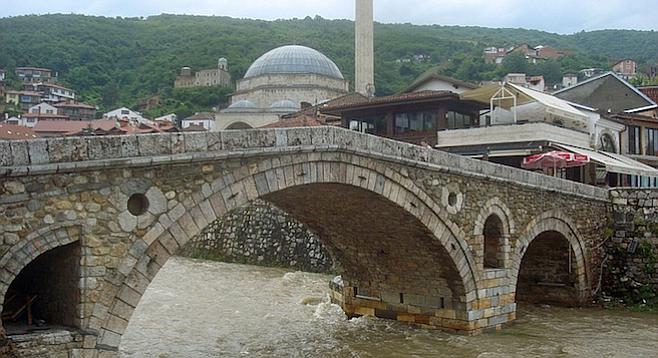 Fourteenth-century bridge in Prizren, Kosovo.