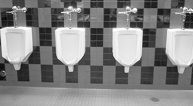 From urinal.net. Time spent at a urinal is a time for introspection, relaxation, exhalation, and frankness.