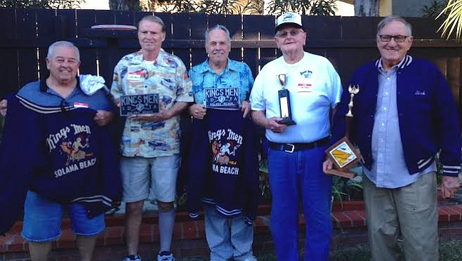 "Henry Keener, Jeff Paulin, Andy Halther, Warren Rap, and ""Bink"" Binkinz"