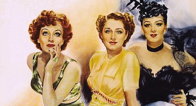 Joan Crawford, Norma Shearer, and Rosalind Russell in 1939's The Women.