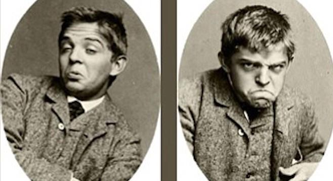 Carl Nielsen pulling faces.
