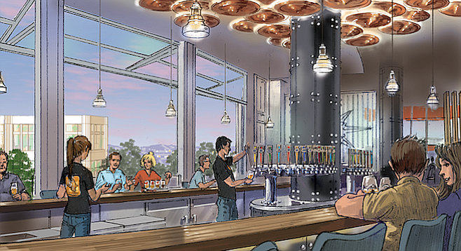Artist's rendering of the bar of Ballast Point Disney