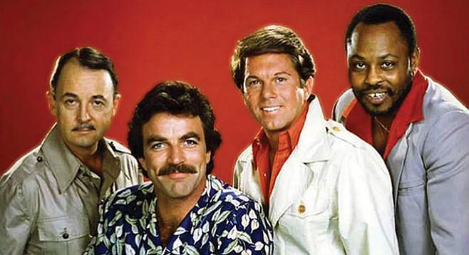 The cast of Magnum P.I.