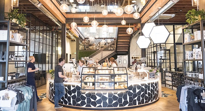 San Diego is tied for first in number of coffee shops per capita. (Above: Better Buzz in Hillcrest).