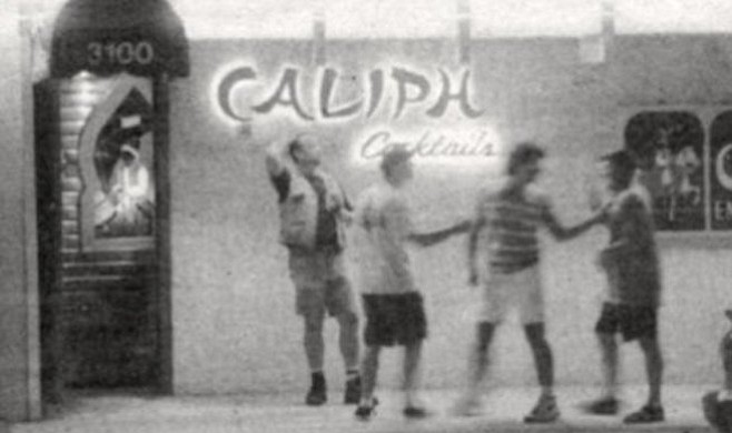 "The Caliph in Hillcrest is ""a gay bar where older men can meet younger men."""