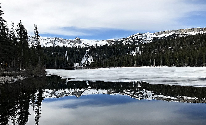 Taking in some mountain majesty in the Mammoth Lakes Basin.