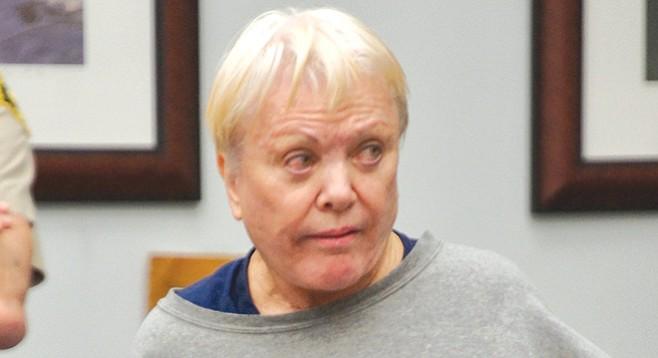 Despite obvious frailty, Jane McKay was handcuffed to a chain around her waist.