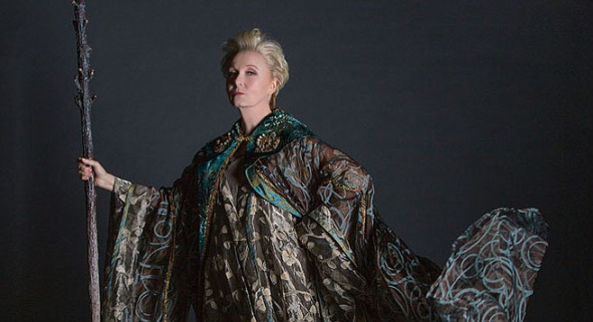 Kate Burton plays Prospera Duchess of Milan in the Old Globe's production of The Tempest