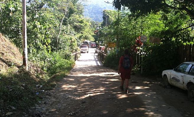 On the road in the mountain town of Minca, about a half hour drive from Santa Marta.