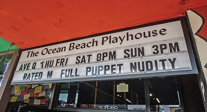 The Ocean Beach Playhouse's annual production of Avenue Q runs through September.