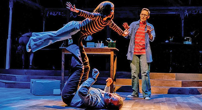 Fun Home: the everyday image of a soaring child accumulates deeper resonances.
