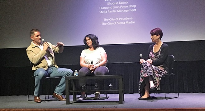 Marsden, Blackwell, and Accomando discuss the film after the screening.