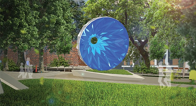 "A rendering of the proposed ""Blue  Skies"" project for the East Village Green. Price tag: $475,000."